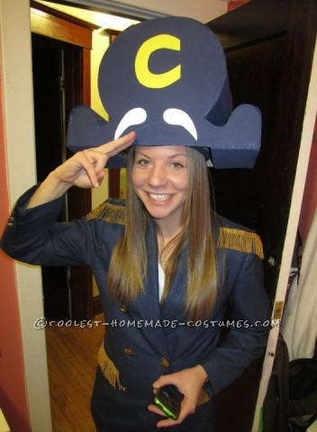 Coolest Homemade Captain Crunch Halloween Costume for a Woman