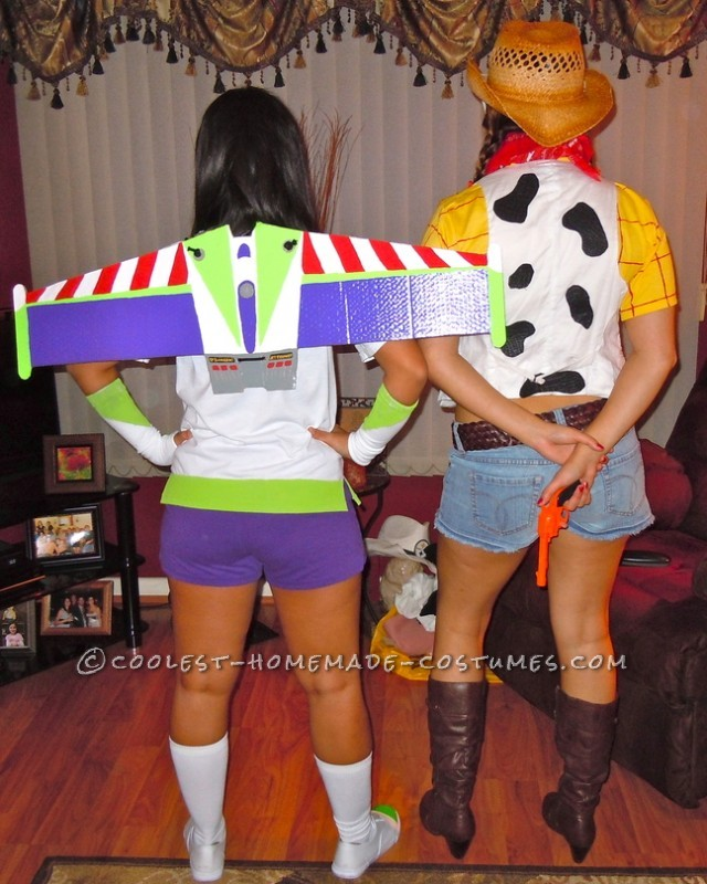Female Buzz Lightyear and Woody Couple Costume - 1