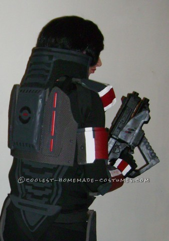 """Epic Female Commander Shepard Costume from Mass Effect: Armor (what you need): Tracing Paper Poster board 2 packs of 4 1/2"""" thick Fitness floor mats or EVA foam 2yrds. of 1/2"""" thick sheet foam 2mm"""