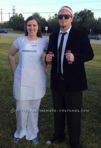 Easy Flo and Mayhem Couple Halloween Costume