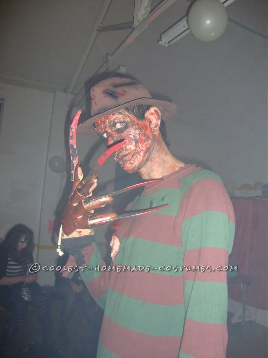 Creepy Homemade Freddy Krueger Costume