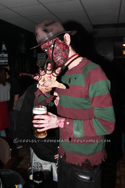 Creepy Homemade Freddy Krueger Costume - 1