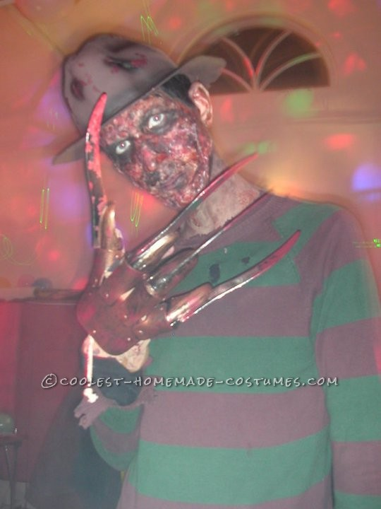 Creepy Homemade Freddy Krueger Costume - 2