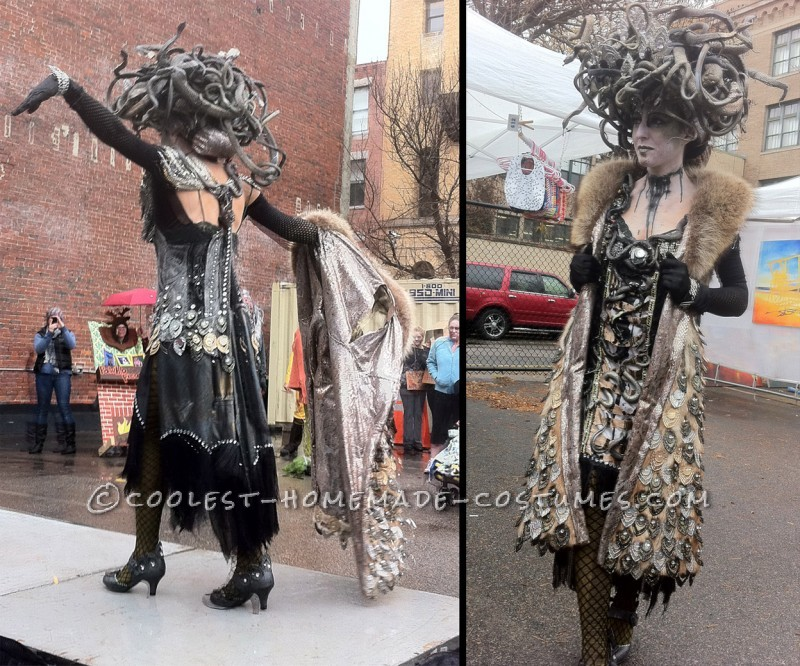 Amazing Hand Made Art Deco Medusa Costume