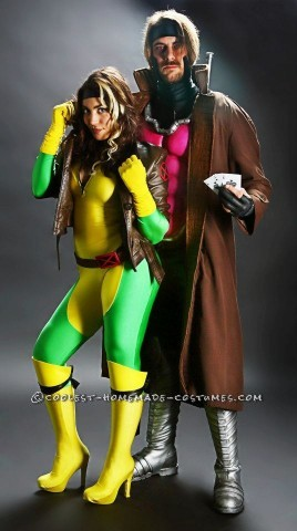 Coolest Gambit and Rogue Couple Costume