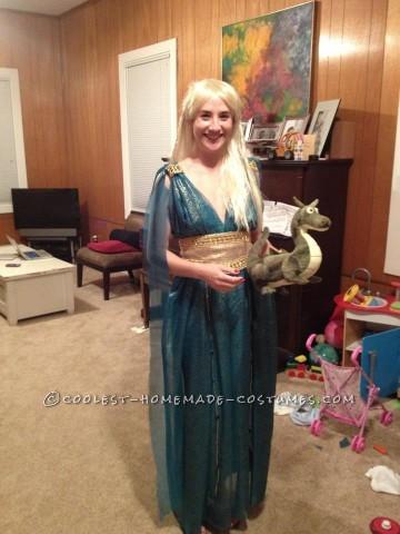 Homemade Game of Thrones Daenerys Targaryen Blue Dress Costume