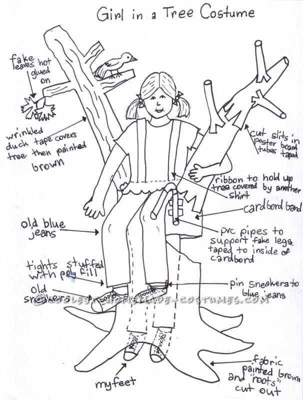 Original Girl in a Tree Illusion Costume - 1