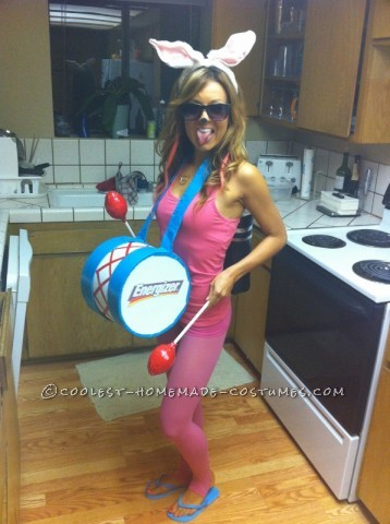 Everyone LOVED this costume!Itis one of myall time favoritesand both easy & cheap to make.The battery pack and drum