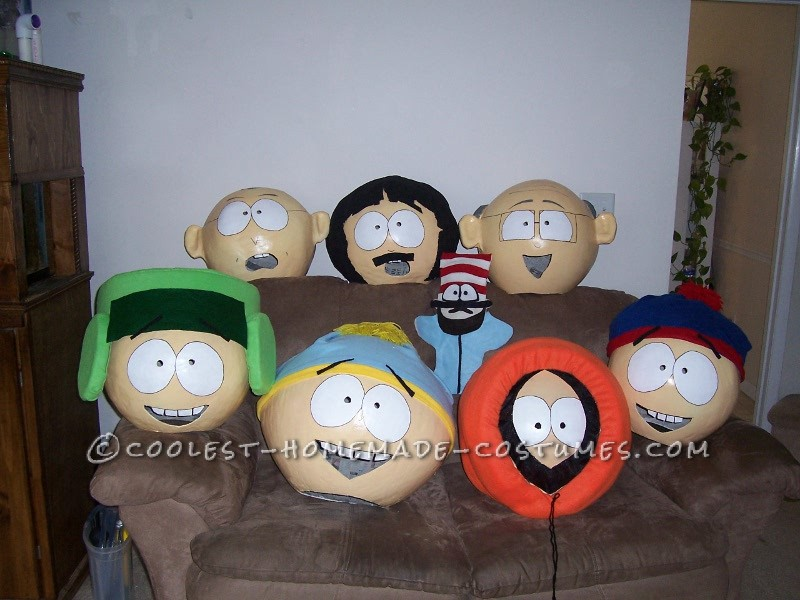 Being great South Park fans, my teenage sons had asked me to design Halloween costumes for them including Kenny, Kyle, Cartman, and Stan. After