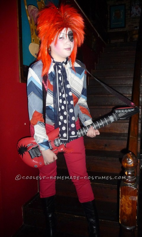 Homemade David Bowie Costume Inspired by Ziggy Stardust and Halloween Jack - 1