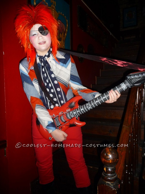 Homemade David Bowie Costume Inspired by Ziggy Stardust and Halloween Jack - 2