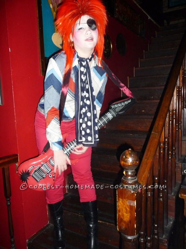Homemade David Bowie Costume Inspired by Ziggy Stardust and Halloween Jack - 3