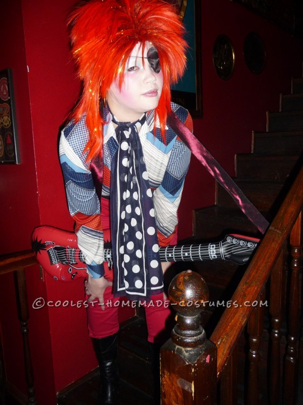 Homemade David Bowie Costume Inspired by Ziggy Stardust and Halloween Jack - 5