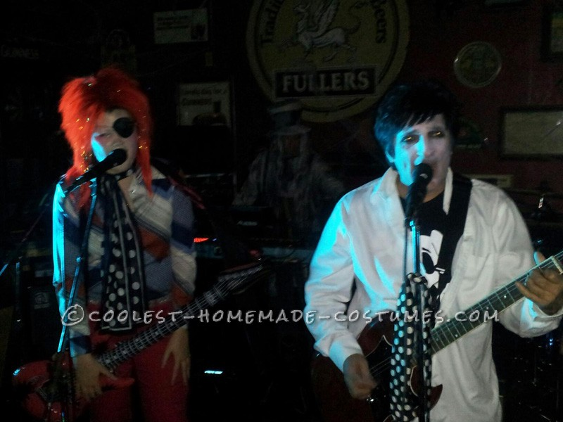 Me up with the local David Bowie tribute band singing Rebel Rebel!