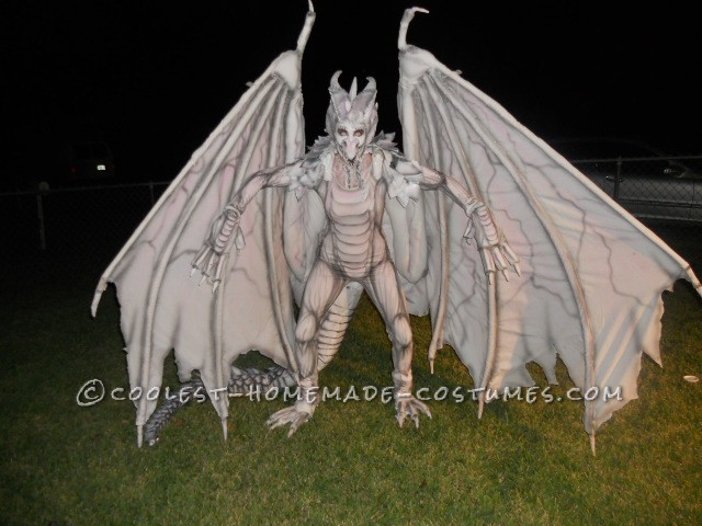 Epic DIY Harry Potter Albino Dragon Costume