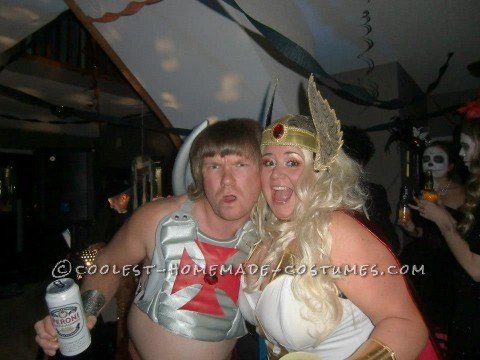 Homemade He-Man and She-Ra Couple Costume