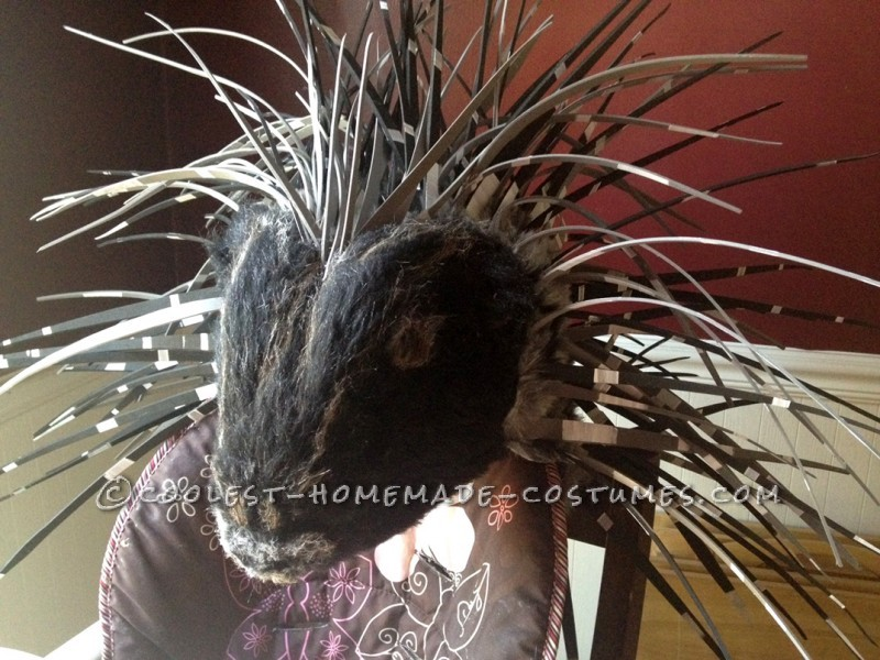 Homemade Prickly Porcupine Costume for a Girl - 11