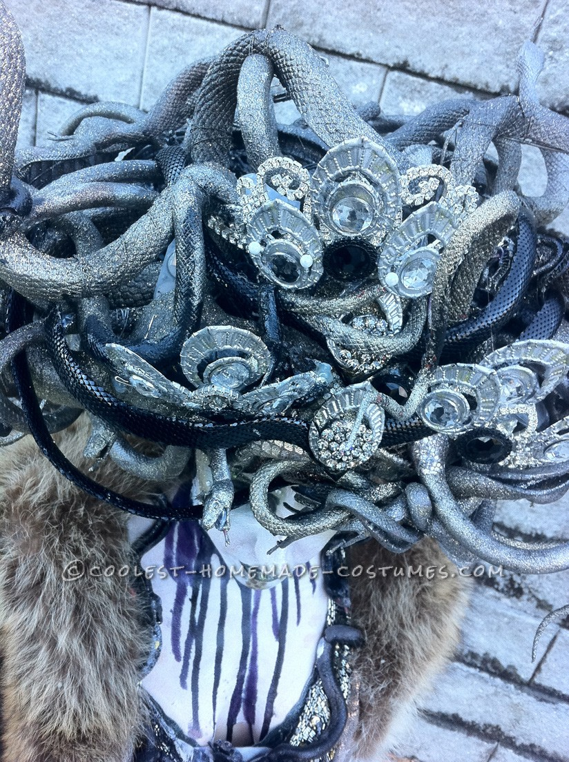 medusa headdress closeup