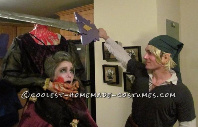 Scary Headless Marie Antoinette Homemade Halloween Costume - 5