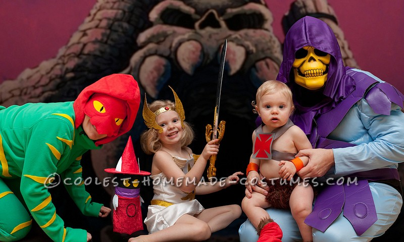 Coolest Masters of the Universe Family Costume: He-Man, She-Ra and Battlecat