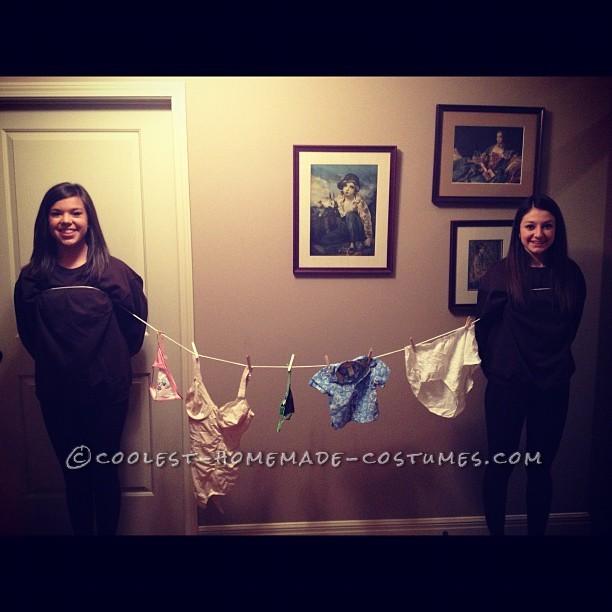 Funny Homemade Clothesline Costume!