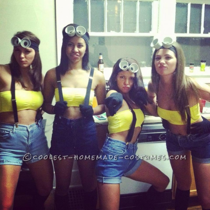 Easy and Cheap Homemade Girl Group Costumes: Despicable Me - 1