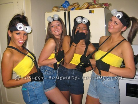 Easy and Cheap Homemade Girl Group Costumes: Despicable Me