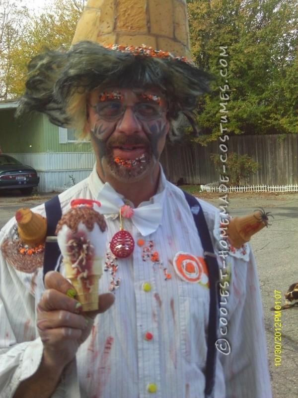 Homemade Ice Cream Man Costume for under 10 Dollars! - 3