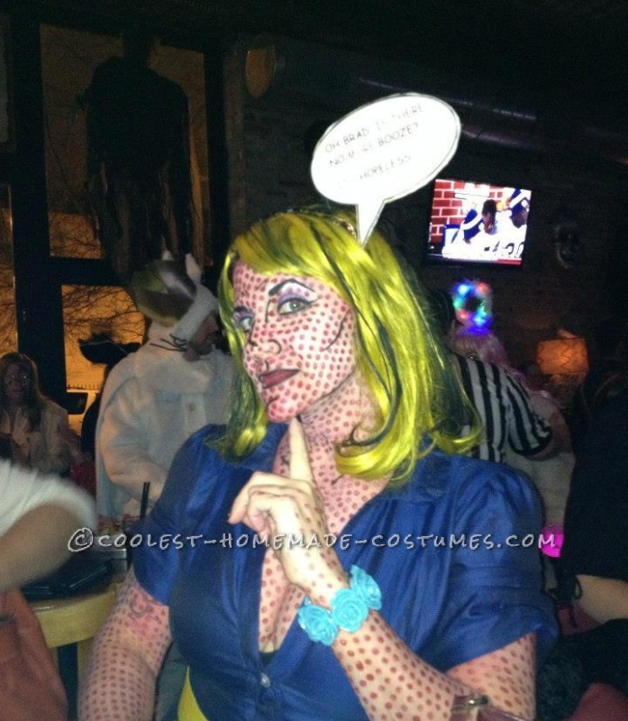 Homemade Lichtenstein Pop Art Lady Halloween Costume