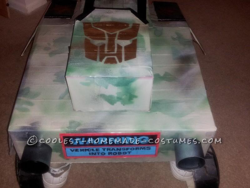Coolest Homemade Transforming Tank Transformer Costume