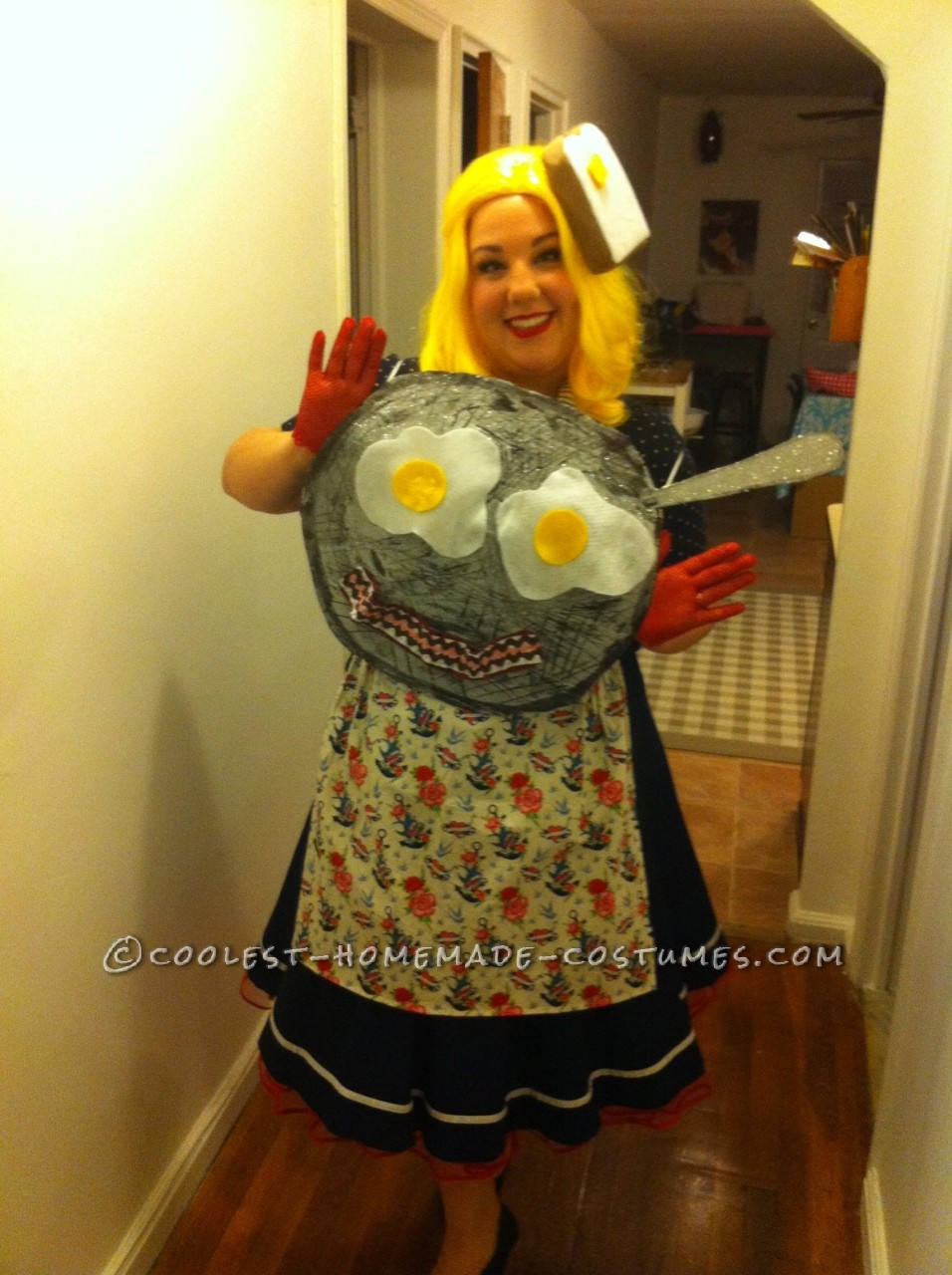 """I decided to be breakfast because women always feel the need to be something """"sexy"""" for Halloween. I wanted young girls to see that not-so-sexy thi"""