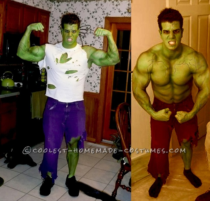 Incredible Home Made Incredible Hulk Avengers Costume!