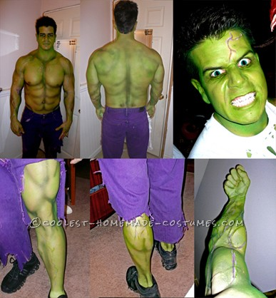 Incredible Home Made Incredible Hulk Avengers Costume!