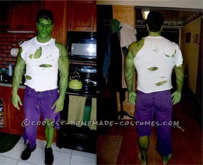 incredible home made incredible hulk avengers costume
