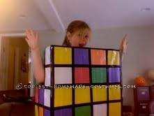 Inexpensive Rubik's Cube Costume for All Ages
