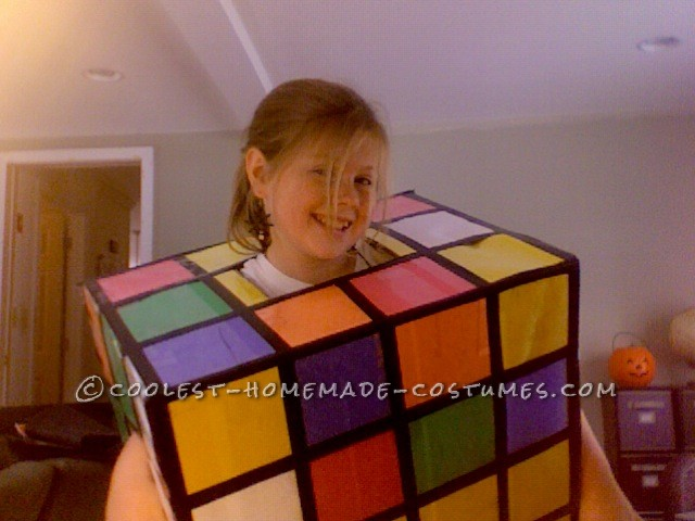 Inexpensive Rubik's Cube Costume