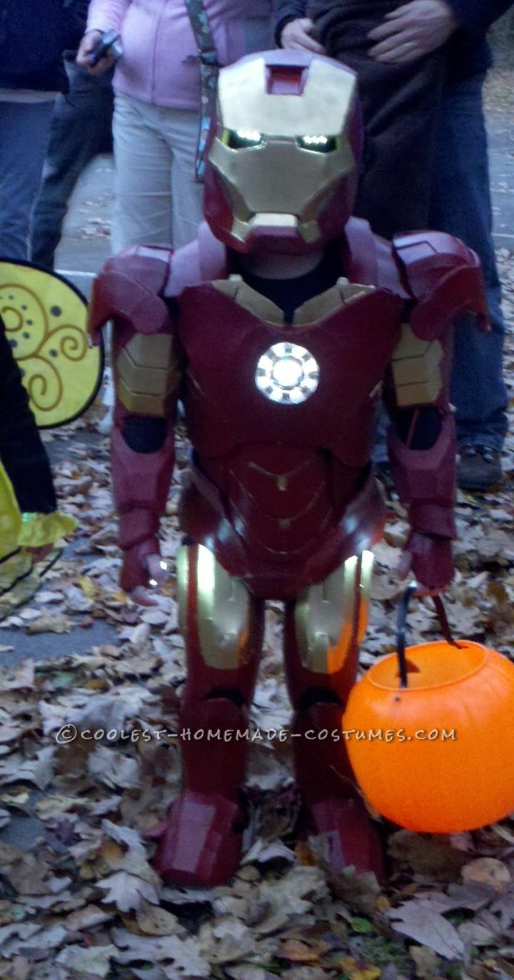 Coolest Homemade Iron Man Toddler Halloween Costume
