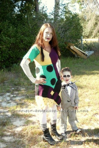 This year my son wanted to be jack skellington from nightmare before christmas. For his costume I bought super cheap ($1.50 yard) black and whi