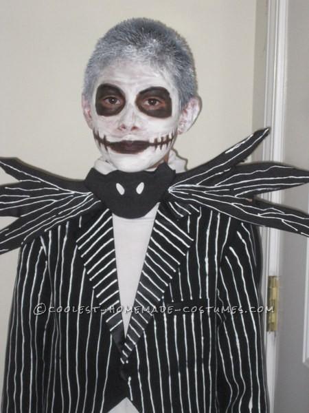 Homemade Jack Skellington Halloween Costume for a Boy - 6