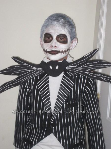 Homemade Jack Skellington Halloween Costume for a Boy - 5
