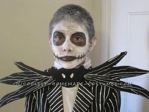 Homemade Jack Skellington Halloween Costume for a Boy
