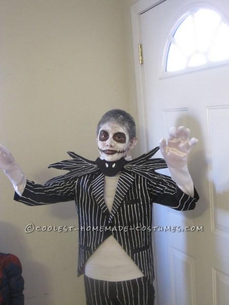 Homemade Jack Skellington Halloween Costume for a Boy - 1