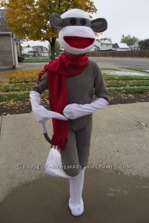 Cool Homemade Sock Monkey Costume That'll Knock Your Socks Off!