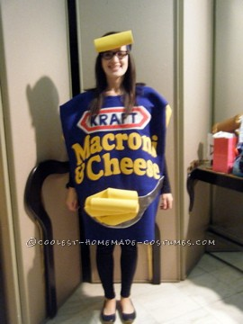 Homemade Kraft Macaroni and Cheese Costume