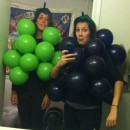 Last-Minute Bushel of Grapes Halloween Costume: I knew I'd undoubtedly be a fire hazard and the idea of having to frequently inflate myself throughout the night wasn't overly appealing, but I was go