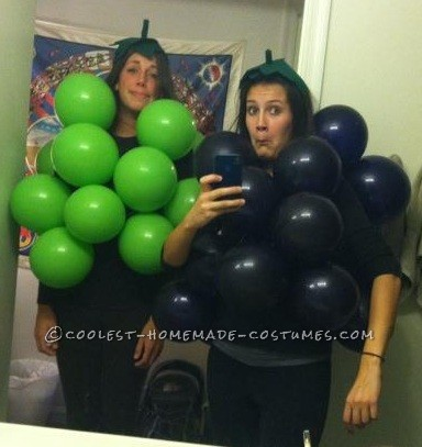 Last-Minute Bushel of Grapes Halloween Costume