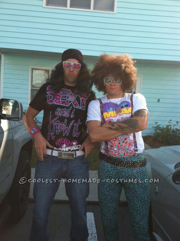 Cool LMFAO Redfoo and SkyBlue Couple Halloween Costume - 1