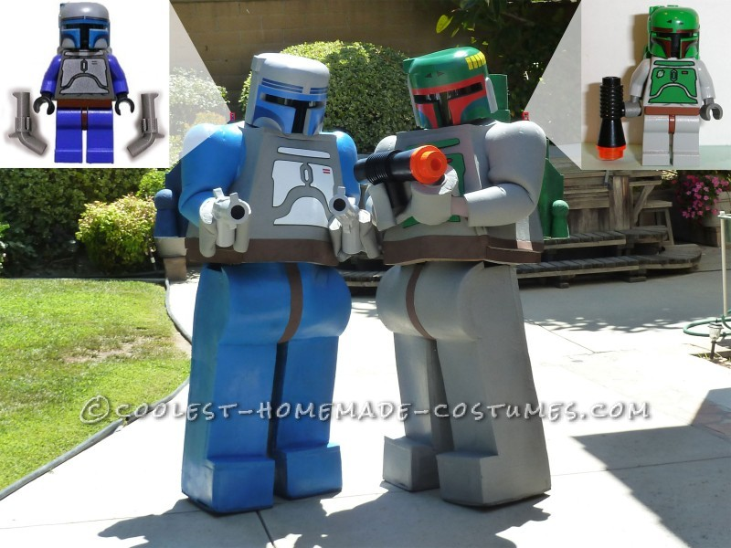 Coolest Jango and Boba Fett LEGO Minifigure Homemade Comic Con Costumes