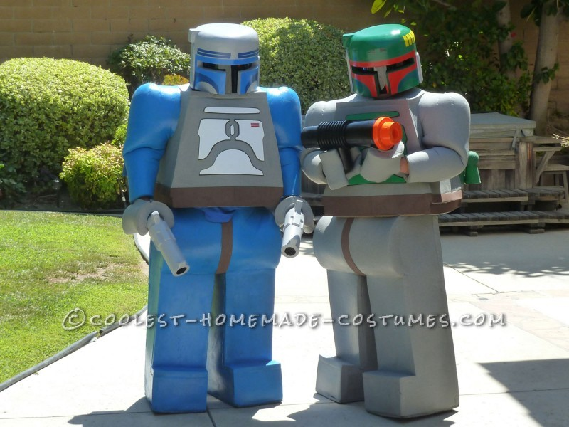 Coolest Jango and Boba Fett LEGO Minifigure Homemade Comic Con Costumes - 1