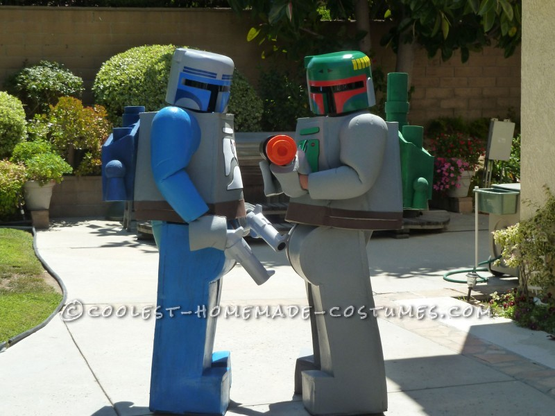 Coolest Jango and Boba Fett LEGO Minifigure Homemade Comic Con Costumes - 2
